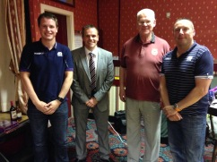 Pictured L-R are Sam Grove-White, Chairman Geoff Eltringham, Vice President Ken Barker and Dave Pearson
