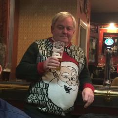 Colin managed to find a Christmas Jumper with a picture of himself on!