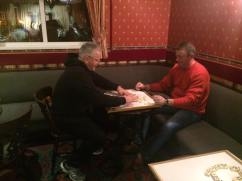 Semi Final of the Dominos. Colin Webster vs Anthony Charlton.